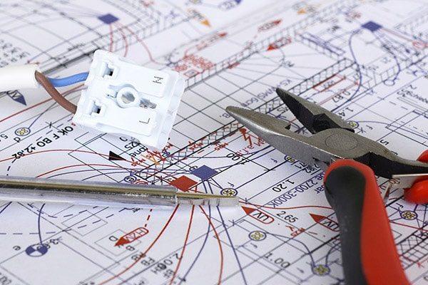 elektriker odense - el-entreprise plantegning ledning